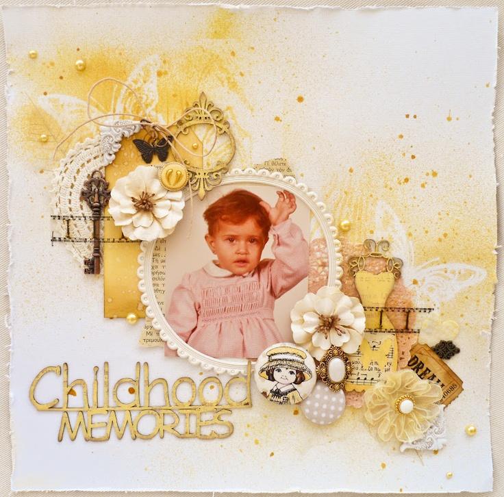 Childhood memories *DT Purple Pumpkin* - Scrapbook.com