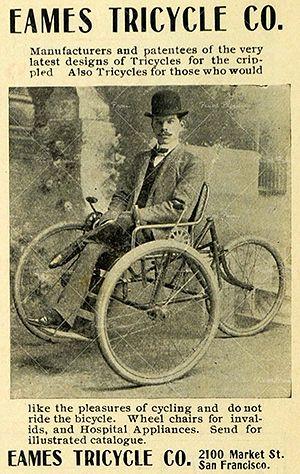 Eames chain drive wheelchair