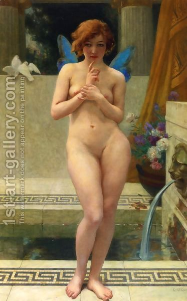 Psyche at a Fountain by Guillaume Seignac