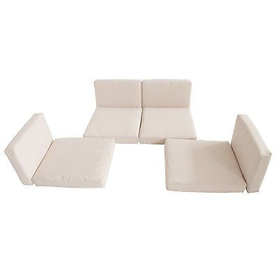 Outsunny 8pc Cream Rattan Garden Wicker Furniture Cushion Cover Replacement  New