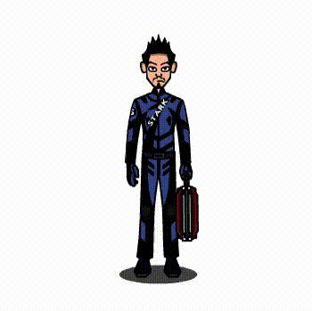 Iron man cartoon GIF