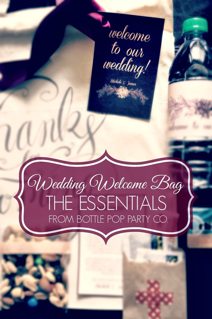Hotel Wedding Welcome Bag Ideas | The Wedding Welcome Bag Essentials