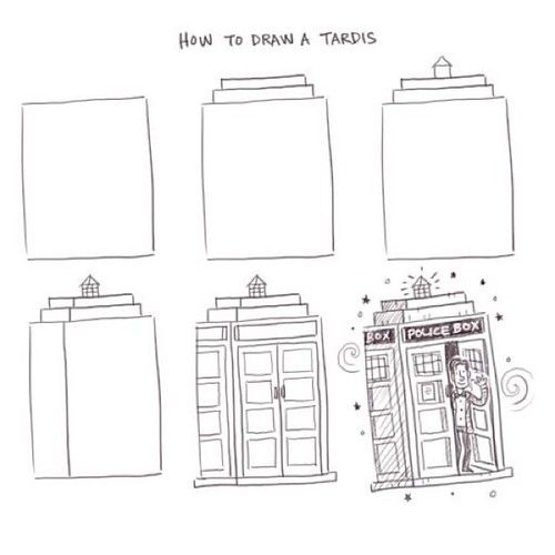 how+to+draw+the+tardis | How to draw a Tardis - Philip Tseng | Doctor Who - BBC