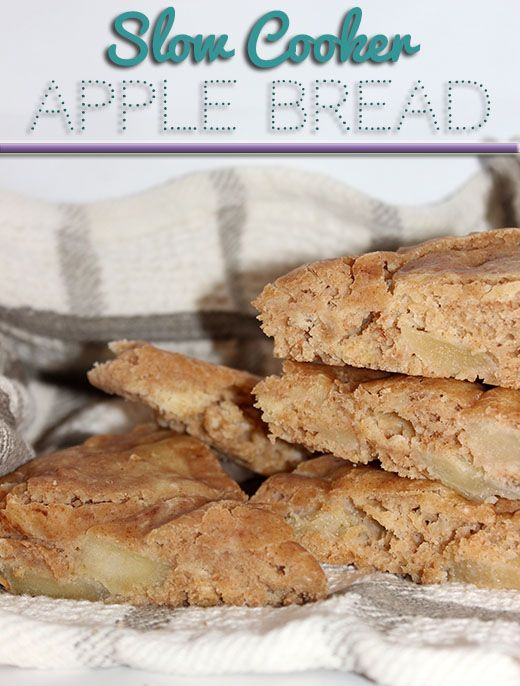 Slow Cooker Apple Bread #Recipe