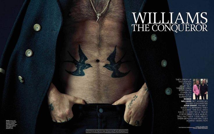 Male Fashion Trends: Robbie Williams para Attitude Magazine por Steph Pistel
