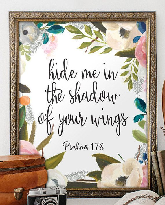 Wall art Bible Verse Art Printable Scripture by TwoBrushesDesigns