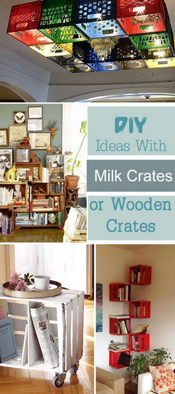 DIY Ideas With Milk Crates or Wooden Crates!