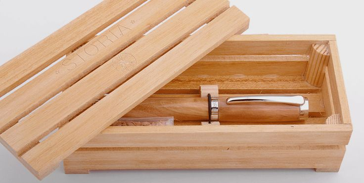 Verona pen in olive wood - by Storia - in its wood box