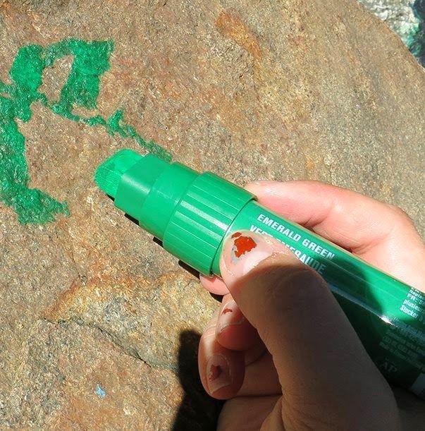 Writing on stone :)  Kiveen tekstausta :)