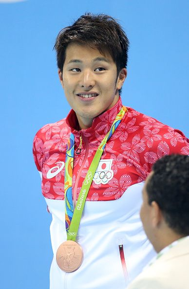 #RIO2016 - Best of Day 1 - Bronze medalist Daiya Seto of Japan poses during the medal ceremony for the Men's 400m Individual Medley during the swimming competition of the 2016...