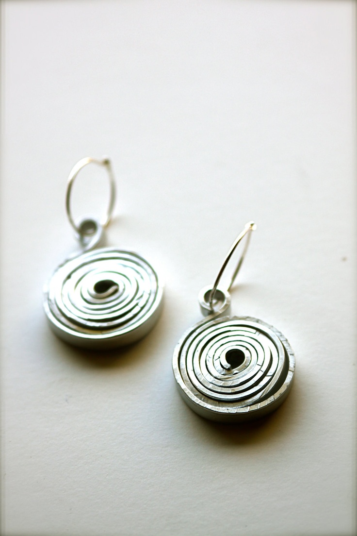 Find This Pin And More On Flat Wire Items Similar To Hammered Aluminum  Earrings