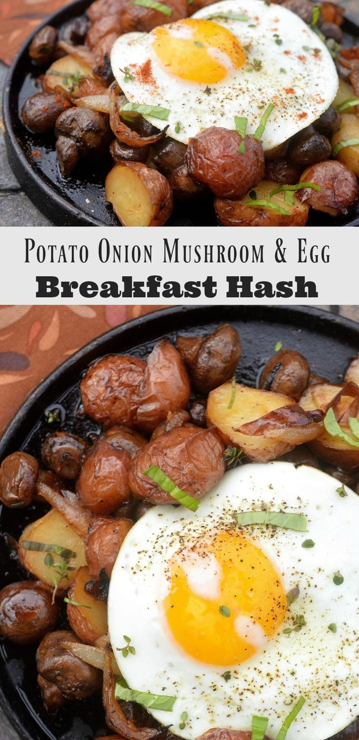 Potato Onion Mushroom and Egg Breakfast Hash Whole 30 Approved