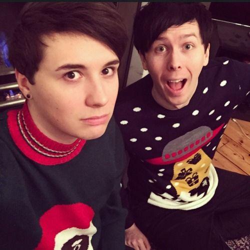 Dan looks scared. XD
