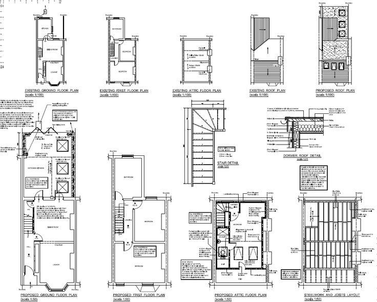 loft extension floor plans - loft conversion plans for victorian terraced house