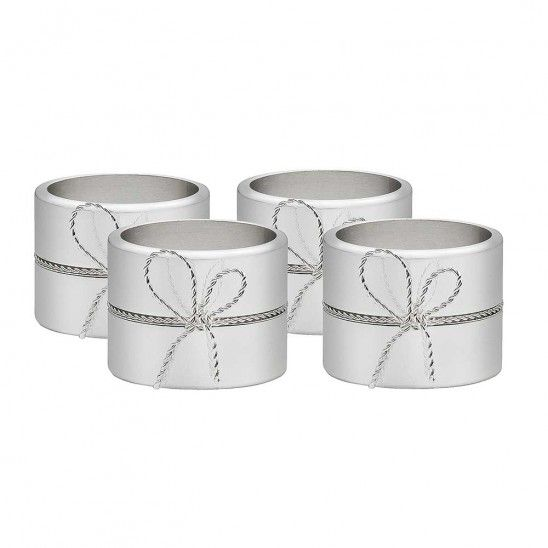 Love Knots Set of 4 Silverplated Napkin Rings