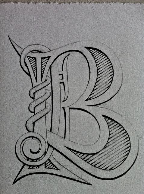 hand drawn lettering letter b my doodles lettering calligraphy fonts 12074 | 5b25de01fdf13c9cdb3f1d164f4c3f5e hand drawn lettering lost art