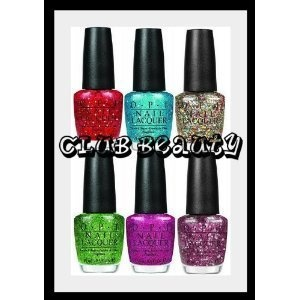 a 6-pack of all the fun OPI muppets line glitter nail polish
