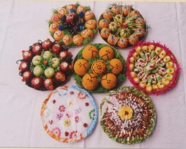 Chk fruits & 201 best plate decoration images on Pinterest | Indian bridal ...