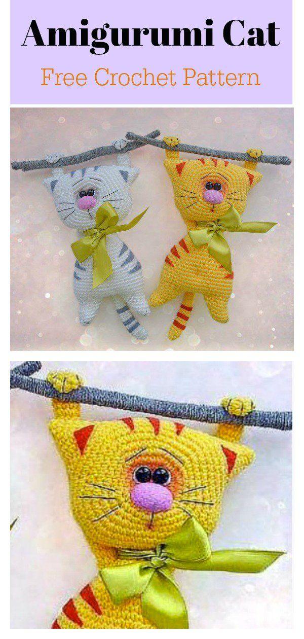 Image result for amigurumi crochet free cat patterns pinterest ... | 1260x600