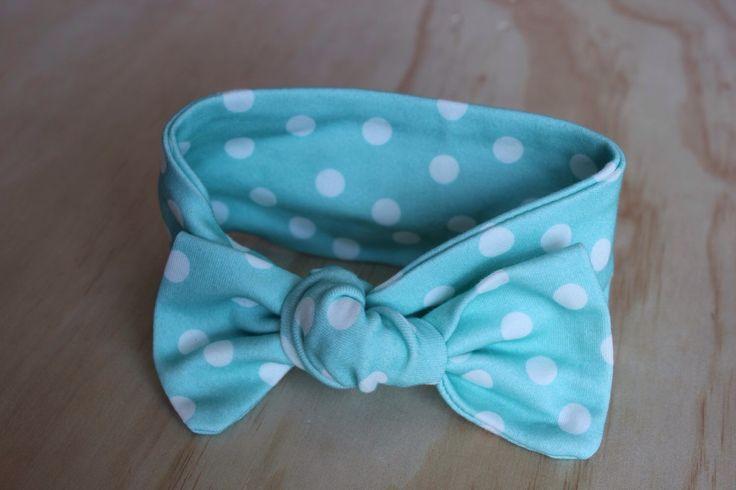 NEWBORN Teal Polkadots Wide Bow Knot Headband by HarlzandHaven on Etsy https://www.etsy.com/listing/209041634/newborn-teal-polkadots-wide-bow-knot