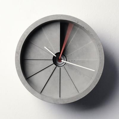 The 4th Dimension Concrete Clock by 22DesignStudio