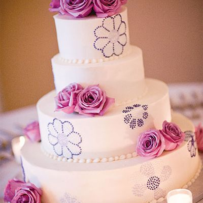 frosted wedding cakes | Pink & Purple Wedding Color Schemes | Wedding Dress | Bridal ...