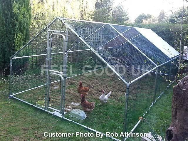 details about chicken run walk in coop for poultry dog. Black Bedroom Furniture Sets. Home Design Ideas