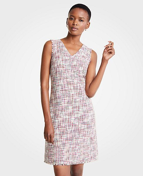 2f77603448c Shop Ann Taylor for effortless style and everyday elegance. Our Rainbow  Tweed Shift Dress is the perfect piece to add to your closet.