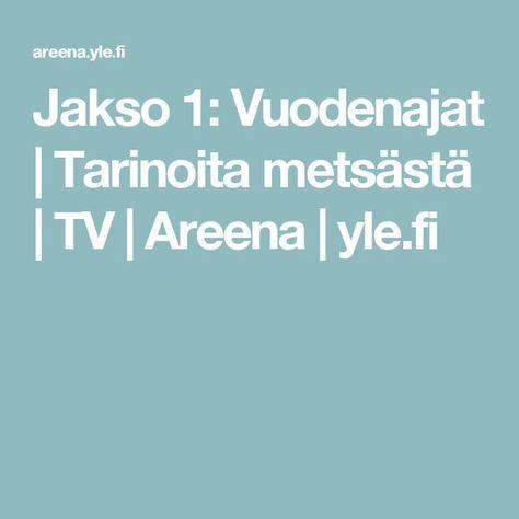 Jakso 1: Vuodenajat   Tarinoita metsästä   TV   Areena   yle.fi