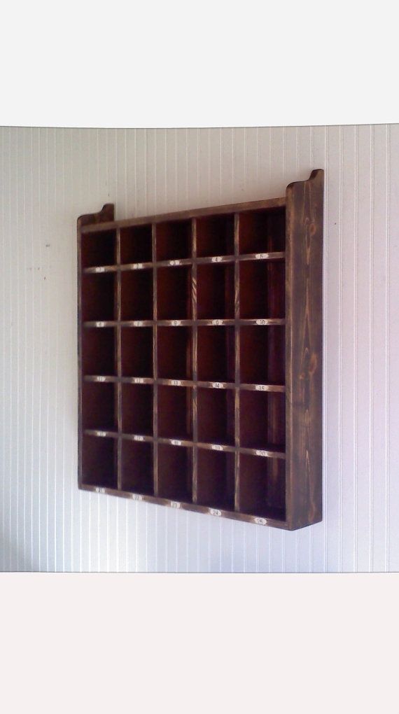 Wooden hotel room key holder letter box cubicles by firecrackerkid rooms office - Wooden letter and key holder ...