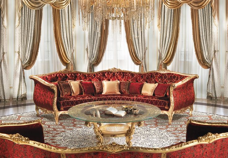 ARCADIO Semicircular baroque luxury sofa