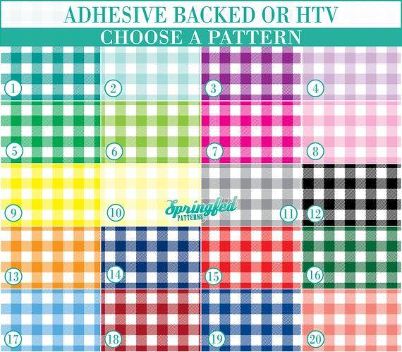 Buffalo Plaid Pattern 1 Basic Colors Your Choice Adhesive Or Htv Heat Transfer Vinyl For Shirts Crafts And More Plaid Pattern Patterned Vinyl Adhesive Vinyl