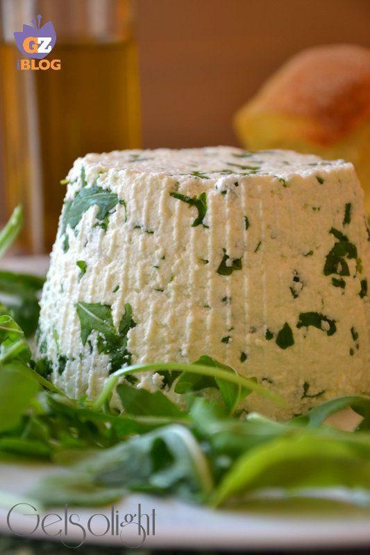 formaggio con rucola fatto in casa
