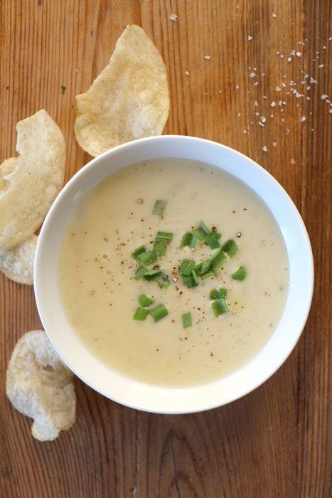 Cremige Kartoffelsuppe (vegetarisch oder vegan)