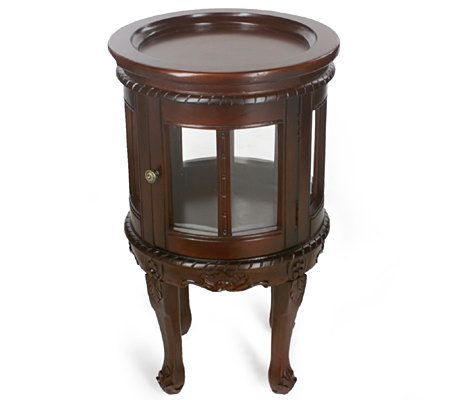 Classic Round Wine Cabinet With Removable Tray