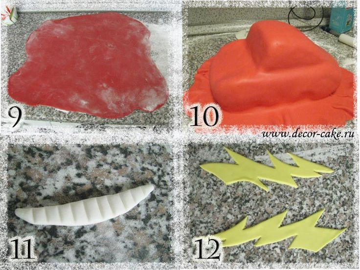 Торт в виде тачки Маквин из мастики