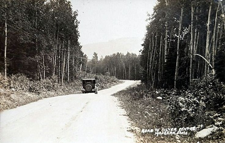 """Road to Silver Centre, Ontario (ghost town)""""Keeley Mine"""