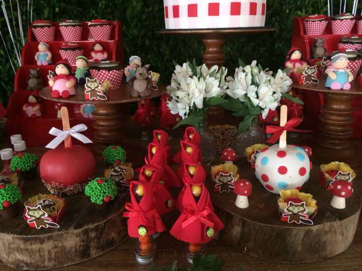 Festa Chapeuzinho Vermelho! Little red hiding hood party ideas