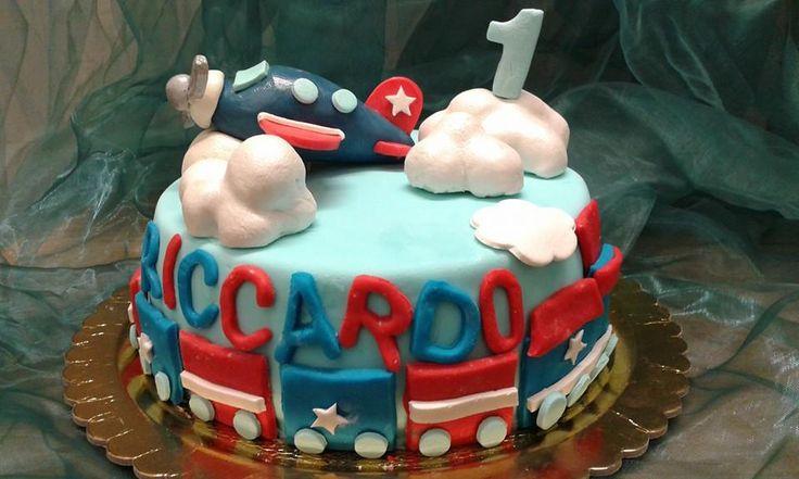 Torta di Compleanno decorata cake design Torta Bimbo 1 Anno Pasticceria Bellucci a Firenze