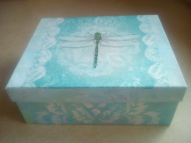 decoupage, shoebox