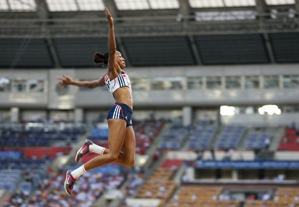 Shara Proctor of Great Britain competes in the Women's Long Jump final during Day Two of the 14th IAAF World Athletics Championships Moscow 2013 at Luzhniki Stadium on August 11, 2013 in Moscow, Russia.