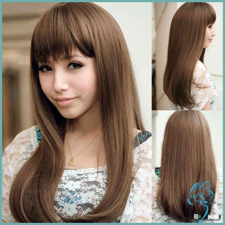 Asiatische Kurze Geschichteten Frisuren, Haarschnitte Für Mittlere …   Damen Frisuren