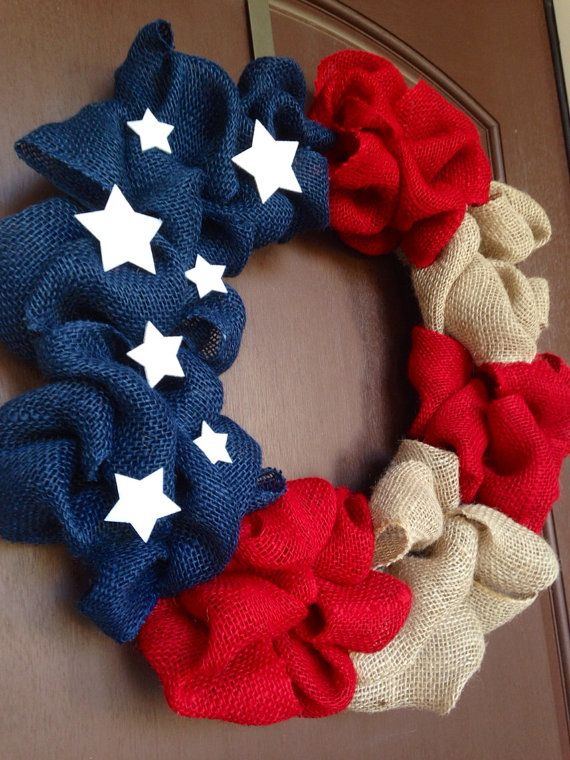 4th of July Wreath--Red White and Blue Wreath-- Independence Day Wreath-- Memorial Day Wreath --American Flag Wreath--Veterans Day Wreath  #4thofJuly #Patriotic