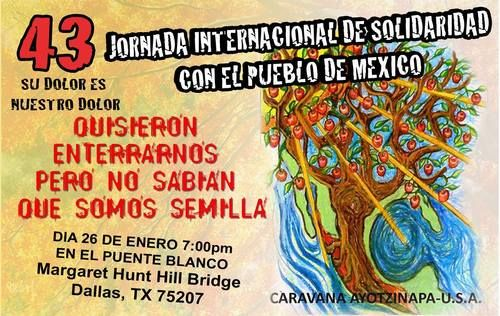 Adjunct Justice — 8th Global Day of Solidarity with Mexico: Dallas...
