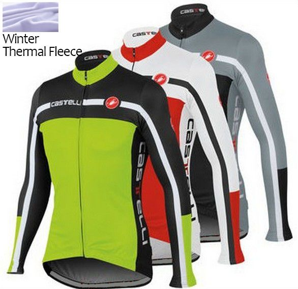 2015 Cycling Jersey Winter Fleece Thermal  Long Sleeve Jackets clothing coat