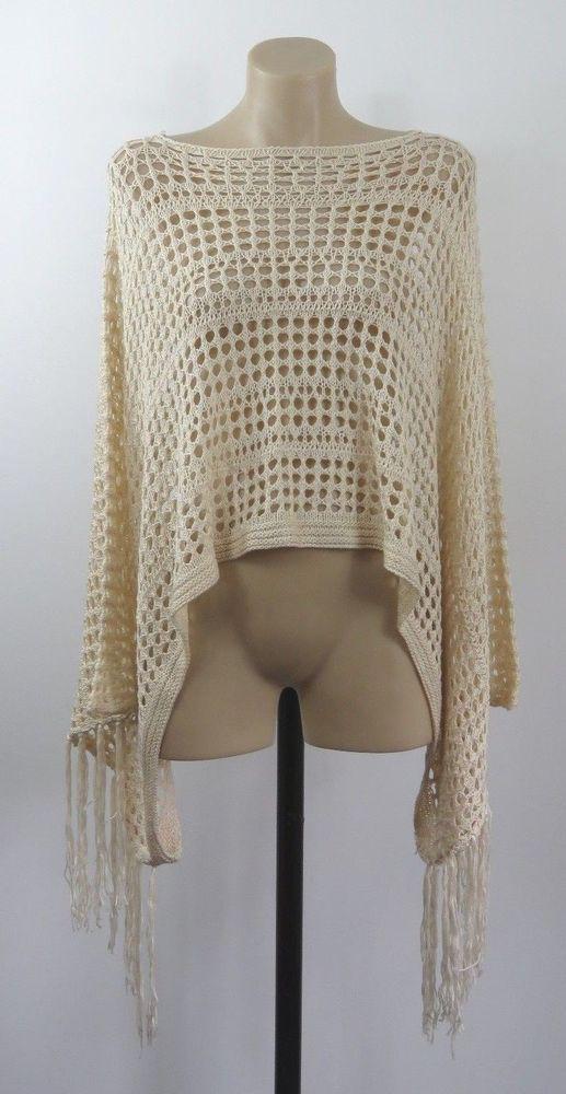 Ladies Shawl Wrap Crochet Cocktail Boho Vintage Chic Feminine Peasant Hip Design #Unbranded #Poncho