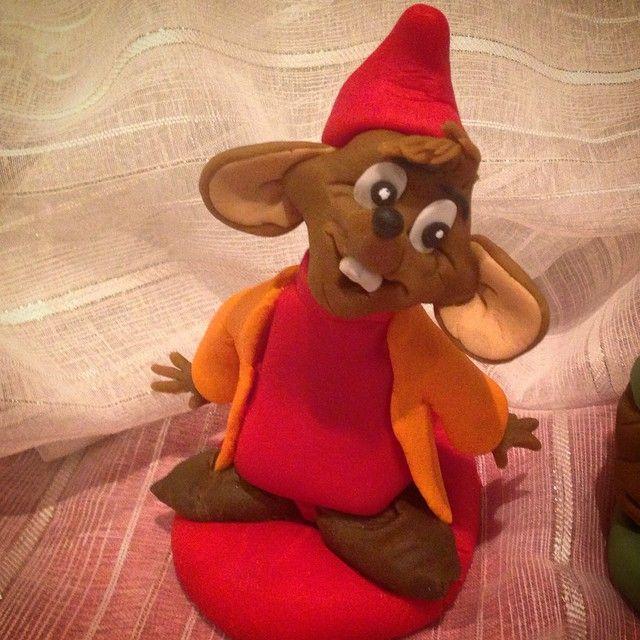 """I've Made #jaq from disney cinderella .made #handmade #disney #disneyside #disneyart #disneyfan #caketopper #disneylove #repost #cinderella #nrkmat…"""