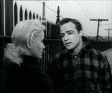 Marlon Brando with Eva Marie Saint in the trailer for On the Waterfront (1954)