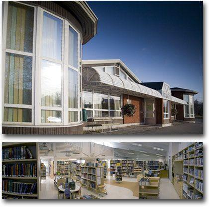 Lohtajan kirjasto / Lochteå bibliotek Photo by Joni Virtanen