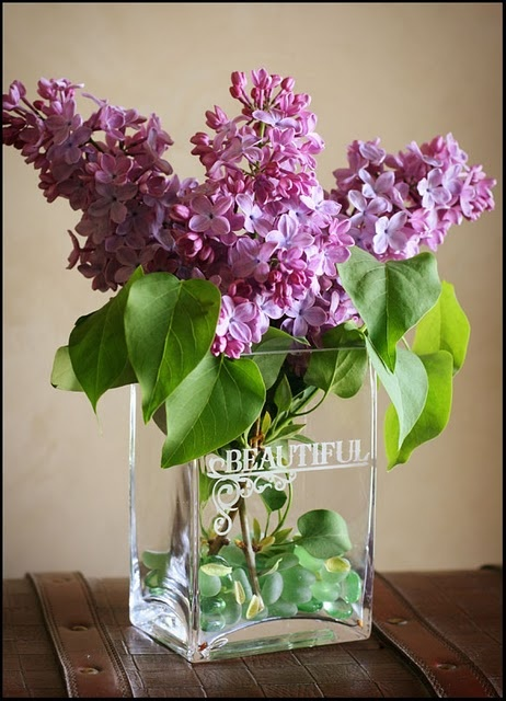 glass etching vase
